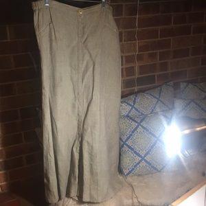Flax long skirt